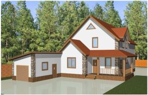 Эскизный проект дома с Визуализацией