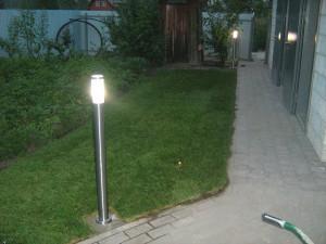 освещение дачного участка фото