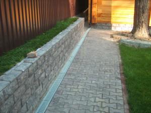подпорные стенки в ландшафтном дизайне фото