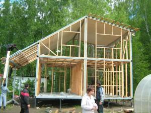 строительство дачных домов из металлокаркаса в Новосибирске